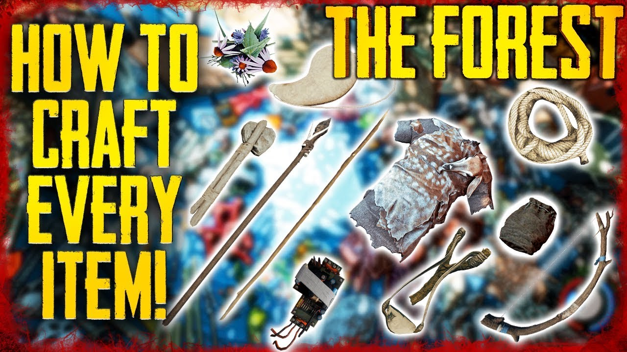 HOW TO CRAFT EVERY ITEM IN THE FOREST! PS4 & PC