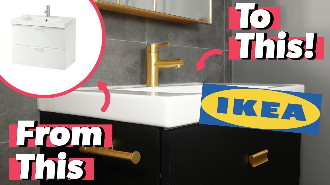ikea godmorgon design hack upgrade your bathroom vanity in 3 steps