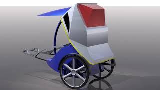 モーターアシスト人力車 power assist rickshaw