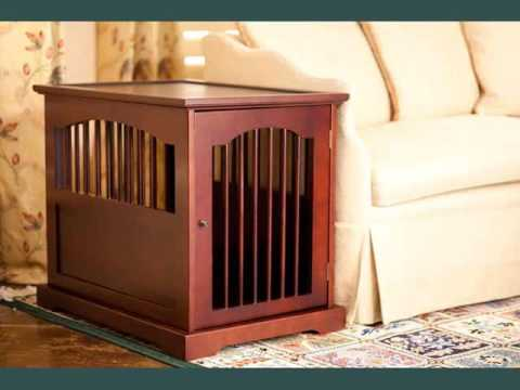 Collection Of Wood Dog Crate Furniture Youtube