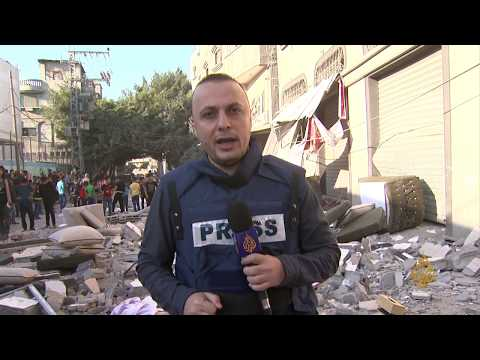 ???????? مراسل الجزيرة ينقل آثار القصف الإسرائيلي الذي أدى إلى استشهاد القيادي بالجهاد بهاء أبو العطا