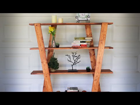 How to Build a Modern Bookcase - Simple Artistic Bookshelf