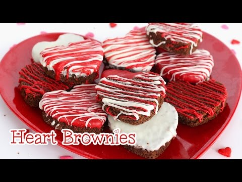 DIY Valentine's Day Treats : Heart Brownies - Quick & Easy