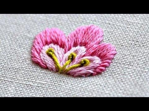 Satin Stitch Flower Embroidery Tutorials Youtube