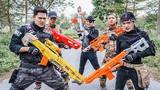 LTT Game Nerf War : Warriors SEAL X Nerf Guns Fight Criminal Group Black Man Transporter Pro