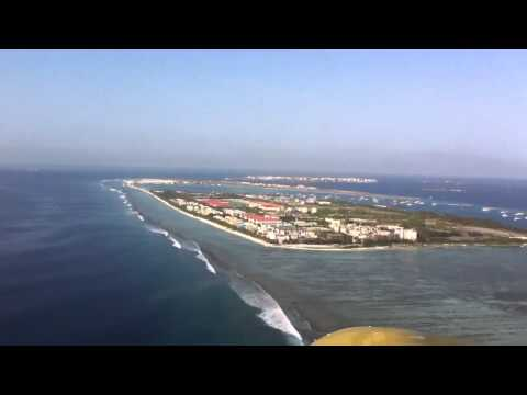 Maldives Sea Plane landing - Pilot's view