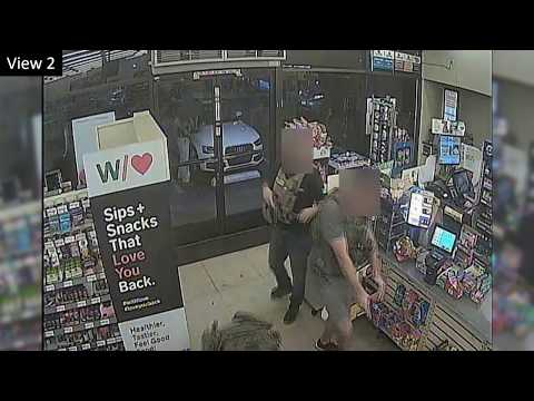 Surveillance Video Officer-involved Shooting Inside 7-Eleven