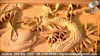 Máy điêu khắc gỗ 3d Elip