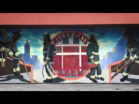 Alley Cats Mural - San Francisco Firehouse Station 1 - School of Fine Art