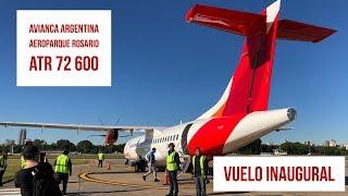 Primer e histórico vuelo de Avianca Argentina - AEP ROS