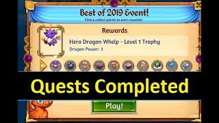 Merge Dragons Best of 2019 Event Part 10 - All Quests Completed
