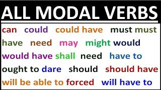 2 HOURS - FULL COURSE on ALL MODAL VERBS in ENGLISH. Grammar lessons for beginners, intermediate