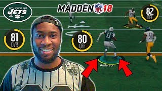 ROBBY ANDERSON MIGHT BE AN ELITE WIDE RECEIVER! JETS UNDERRATED?! Madden 18 Online H2H Gameplay