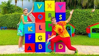 Stacy and Artem learn the English alphabet