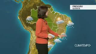 Previsão Brasil – Frente fria no litoral do Sudeste