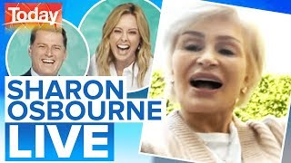 Gambar cover Sharon Osbourne surprises Karl, Ally with WFH attire   Today Show Australia