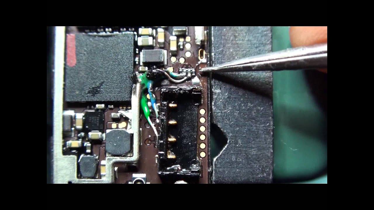 Schemi Elettrici Iphone : Apple iphone connettore batteria con piste centrali rotte come