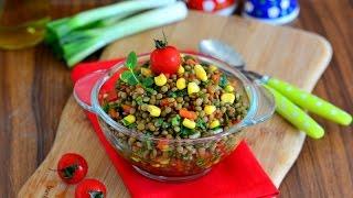 Yeşil  Mercimek  Salatası Tarifi ( Salata  Tarifleri )