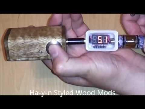 Ha Y N Dual 18350 VV Mango Wood Box Mod Review (Electronic Cigarette)