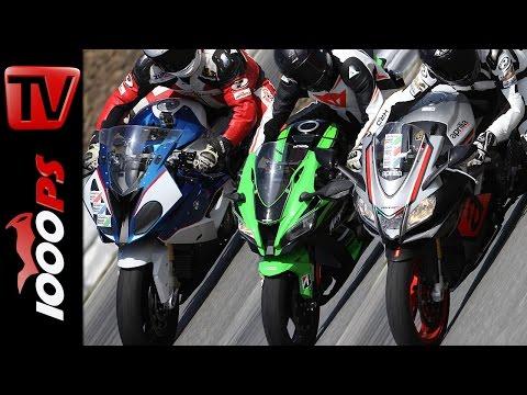 Aprilia RSV4 RR vs Kawasaki ZX-10R vs BMW S 1000 RR | Supersport Vergleich 2016