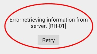 how to fix error retrieving information from server rh-01 thumbnail