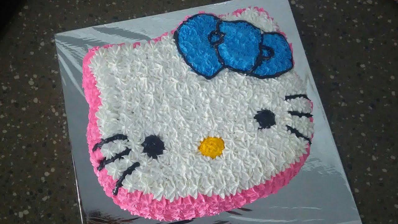 Cara Menghias Kue Ulang Tahun Hello Kitty Youtube