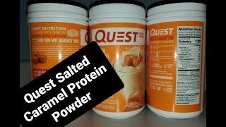 Quest Protein Powder Salted Caramel | KimTownselYouTube