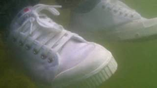 OMG! She went in wearing her spring court tennis shoes!
