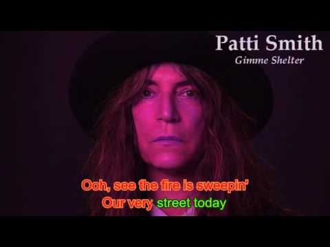 Lyrics - Patti Smith - Gimme Shelter