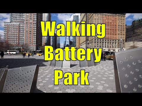 ⁴ᴷ Walking Tour of Battery Park & Battery Park City, Manhattan, NYC