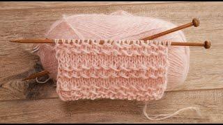 Узор «Цепочка из протяжек» спицами 💫 Knitting Chain Pattern