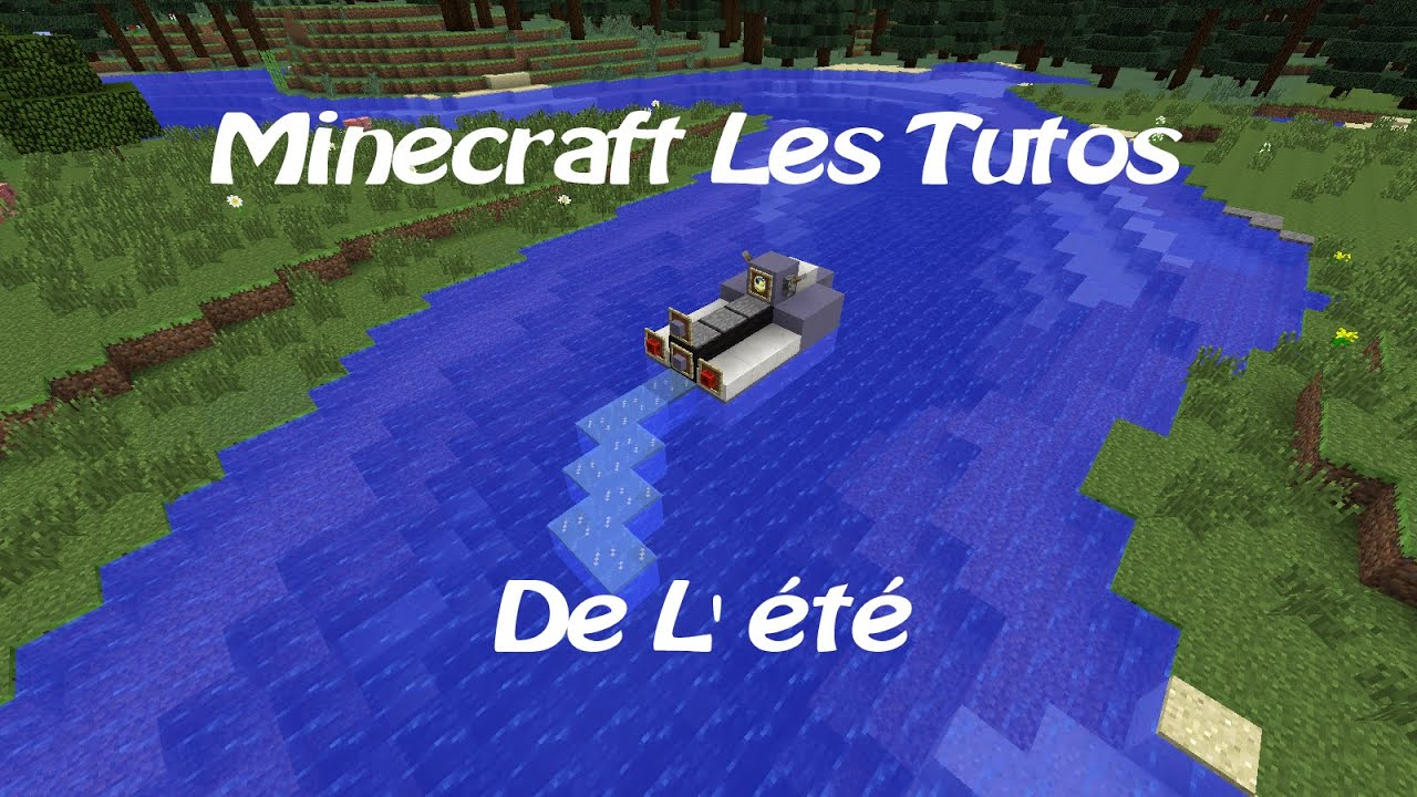 how to build a jet ski in minecraft
