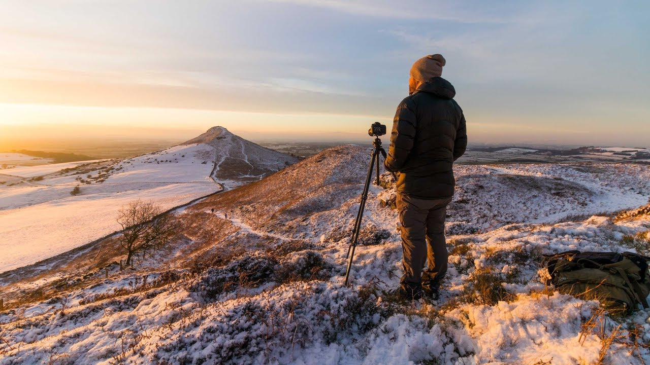 landscape photography in the snow winter in north