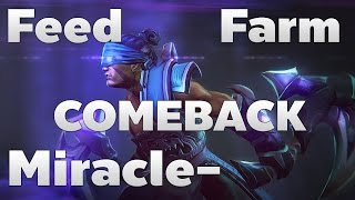 Miracle- Anti-mage Feed/Farm and COMEBACK - Dota 2 RedArchon