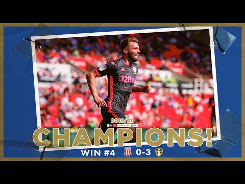 Champions! | Extended highlights | Win #4 Stoke City 0-3 Leeds United