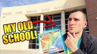 I GOT EMOTIONAL! - Pokemon Card Opening at my OLD HIGH SCHOOL! - HYPER RARE CHARIZARD WHERE YOU AT?!