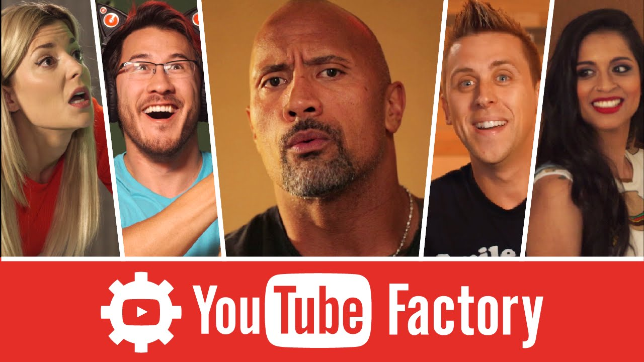 the youtube factory feat dwayne the rock johnson lilly singh and more youtube. Black Bedroom Furniture Sets. Home Design Ideas