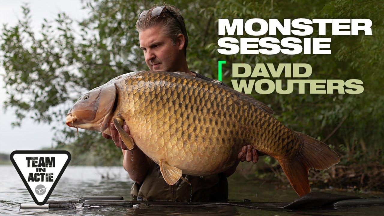 Karpervissen op een groot helder water in Belgie - Team Korda in actie: David Wouters