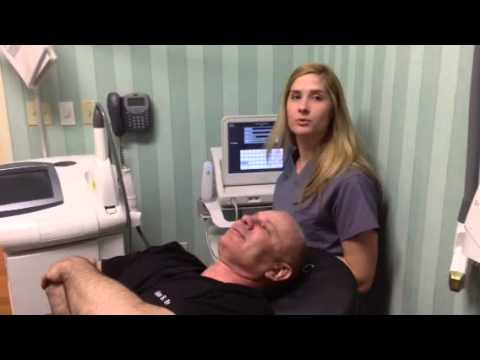 Katie performs Ulthera on Dr. Brackup