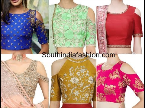 Cold Shoulder Blouse Designs For Sarees And Lehengas Youtube