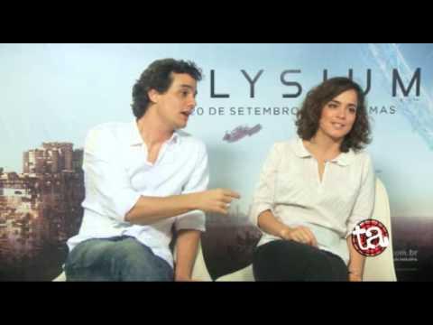 MOVIE BUSINESS entrevista - Wagner Moura e Alice Braga Elysium