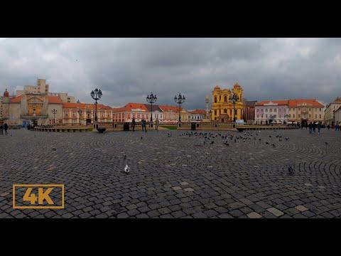 Walking In Timisoara, Romania 4K