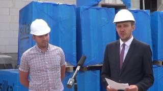 Budowa budynku wielorodzinnego na ul. 3 Maja - konferencja prasowa