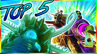 'Top 5 WEAPONS' in Black Ops 3 Zombies! -