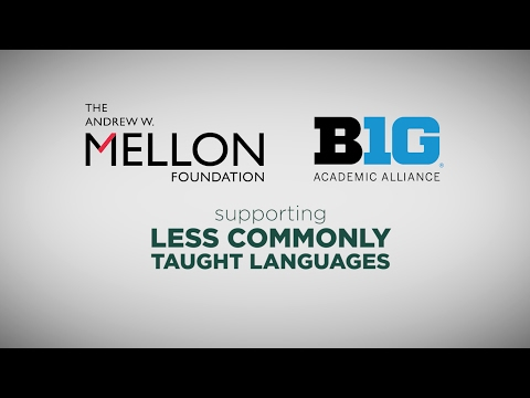 $1.2 Million Mellon Grant - Less Commonly Taught Languages