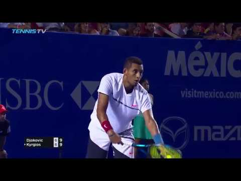 Kyrgios beats Djokovic in 2017 ATP Acapulco Quarter-Final Highlights
