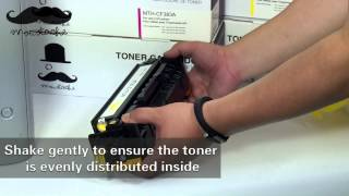 How to install HP 312x toner cartridge for HP Laserjet printer Pro MFP M476nw - By 123Ink.ca