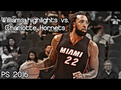 Derrick Williams 13 pts & 4 ast @ Hornets (NBA PS 2016) - 20.10.2016 (Heat Feed)