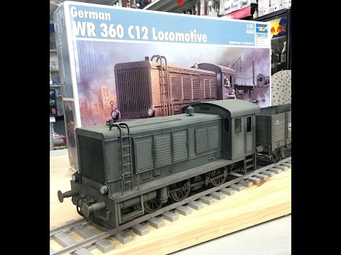 Building the Trumpeter 1/35  WR 360 Locomotive, plastic model for train diorama