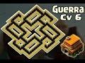 Layout Cv6 Guerra | Anti - Gigante | Anti Balão [Th 6 - War Base] - CoC